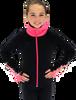 Chloe Noel JS883P Contract Elite Polartec Spiral Fleece Figure Skating Jacket with Crystals 5th view