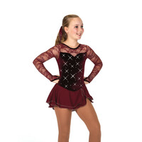 Jerry's Ice Skating Dress   - 75 A Clearly Claret