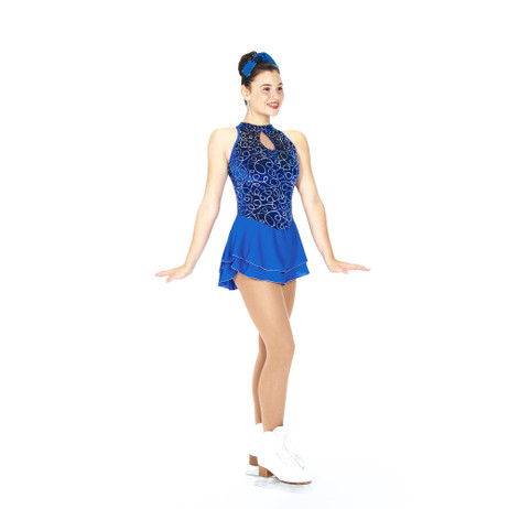 Jerry's Ice Skating Dress   - 79 Swoop Of Loops  - Royal Blue