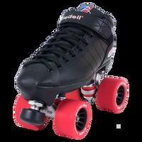 Riedell Quad Roller Skates - R3 Derby (Black)