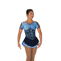 Jerry's Ice Skating Dress   - 103 Brocade In Blue