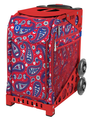 Zuca Sport Bag - Paisley in Red