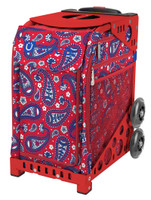 Zuca Sport Bag - Paisley in Red