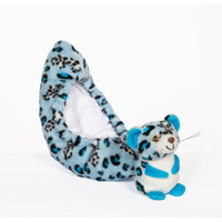 Blade Buddies Ice Skating Soakers - Critter Tail Covers -  Blue Leopard