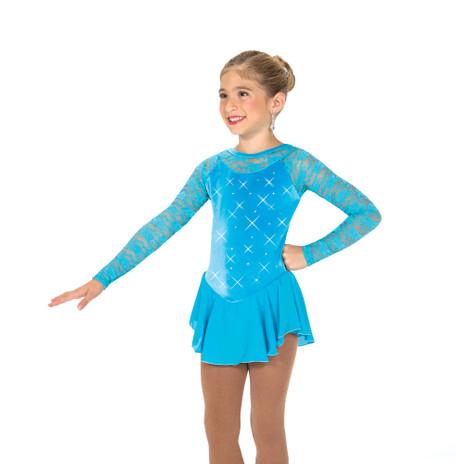 Jerry's Ice Skating  Dress 149 - Jewelled Lace Dress - Sky Blue
