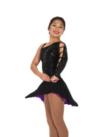 Jerry's Ice Skating  Dress - 222 Hidden Talents Dress-Black/Purple