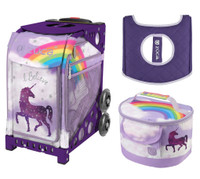 Zuca Sport Bag -Unicorn 2 with Gift Lunchbox and Zuca Seat Cover (Purple Frame)