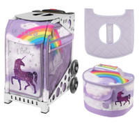 Zuca Sport Bag -Unicorn 2 with Gift Lunchbox and Zuca Seat Cover (White frame)
