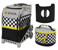 Zuca Sport Bag -SK8ter Block with Gift Lunchbox and Seat Cushion (Grey Frame)