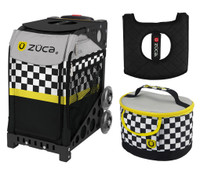 Zuca Sport Bag -SK8ter Block with Gift Lunchbox and Seat Cushion (Black Frame)