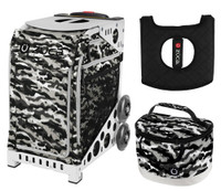 Zuca Sport Bag -NU Camo with Gift Lunchbox and Seat Cushion (White Frame)