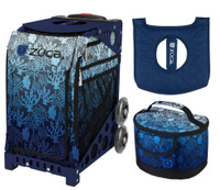 Zuca Sport Bag - Reef with Gift Lunchbox and Zuca Seat Cover (Navy Frame)