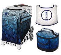 Zuca Sport Bag - Reef with Gift Lunchbox and Zuca Seat Cover (White Frame)