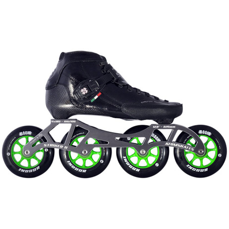 Atom Luigino Strut Indoor Inline Skate Package (Boom Indoor 90mm Firm)