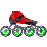 Atom Luigino Strut Indoor Inline Skate Package (Boom Indoor 90mm XFirm)