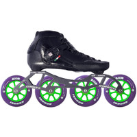 Atom Luigino Strut Indoor Inline Skate Package (Boom Indoor 100mm XFirm)