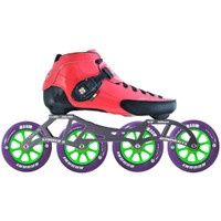 Atom Luigino Strut Indoor Inline Skate Package (Boom Indoor 110mm XFirm)