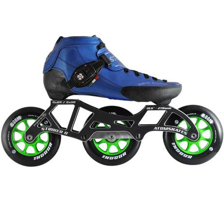 Atom Luigino Strut 3 Wheel Indoor Inline Skate Package (Boom Indoor 110mm Firm)