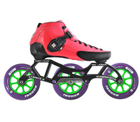 Atom Luigino Strut 3 Wheel Indoor Inline Skate Package (Boom Indoor 110mm XFirm)