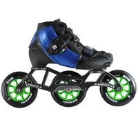 Atom Luigino Kid's 3 Wheel Adjustable Challenge Indoor Inline Skate Package