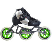 Atom Luigino Kid's 3 Wheel Adjustable Challenge Outdoor Inline Skate Package