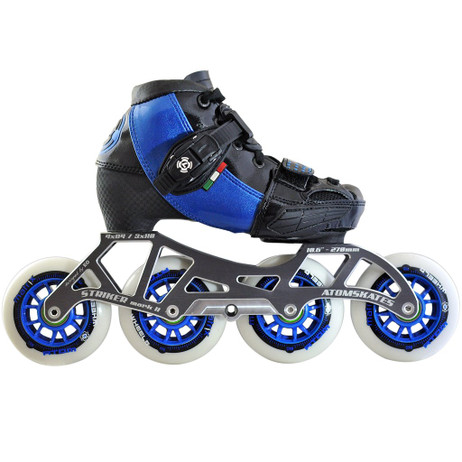 Atom Luigino Kid's 4 Wheel Adjustable Challenge Outdoor Inline Skate Package