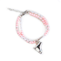 Ice Skating Jewelry - Beaded Pink Bracelet