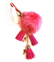 Ice Skating Jewelry - Fluffy & Dark Pink Keycain