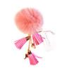 Ice Skating Jewelry - Fluffy & Light Pink Keycain