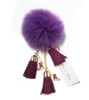 Ice Skating Jewelry - Fluffy & Lilac Keychain