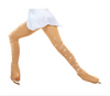 ChloeNoel Over the Boot Ice Skating Tights 3332 Medium Tan with 2 Crystals