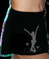 ChloeNoel K01 Aline Skate Skirt w/ Mini Jump Skater Crystals