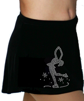 ChloeNoel K01 Aline Skate Skirt w/ Mini Blue Ribbon Crystals