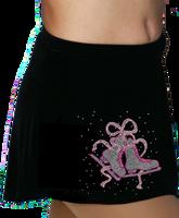 ChloeNoel K01 Aline Skate Skirt w/ Mini Fuchsia Ribbon Crystals