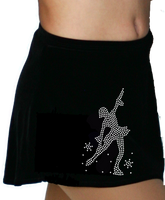 ChloeNoel K01 Aline Skate Skirt w/ Mini Skating Crystals