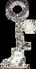 ChloeNoel Crystal Skate Key Chain (White)