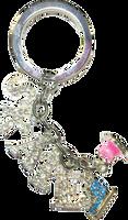 ChloeNoel Crystal Skate Key Chain (Turquoise/Pink)