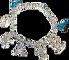 ChloeNoel Crystal Skate Bracelet (Silver/Turquoise
