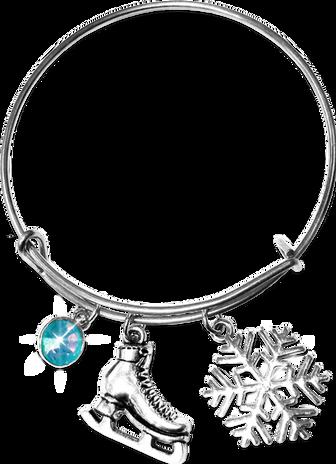 ChloeNoel Charm Bracelet (Silver/Turquoise)