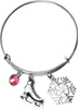 ChloeNoel Charm Bracelet (Silver/Pink)