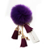 Ice Skating Jewelry - Fluffy & Purple Keychain