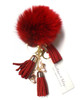 Ice Skating Jewelry - Fluffy & Red Keychain