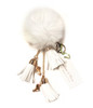 Ice Skating Jewelry - Fluffy & White Keychain