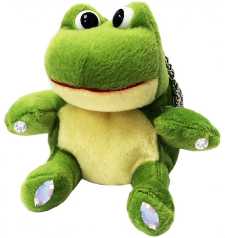 ChloeNoel Cute Animal Key Chain Wallets w/ Crystal Skates - Frog