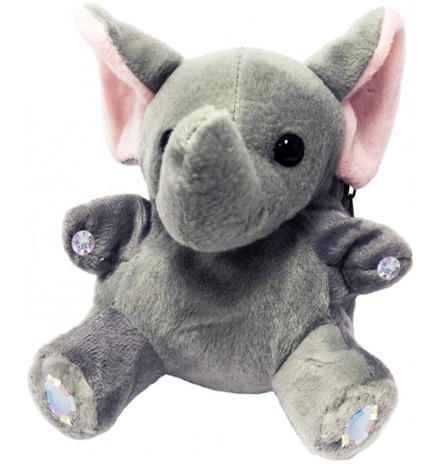 ChloeNoel Cute Animal Key Chain Wallets w/ Crystal Skates - Elephant