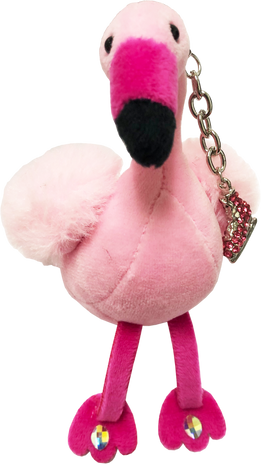 ChloeNoel Cute Animal Key Chain w/ Crystal Skates - Flamingo
