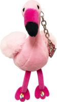 ChloeNoel Cute Animal Key Chain w/ Crystal Skates - Flamingo