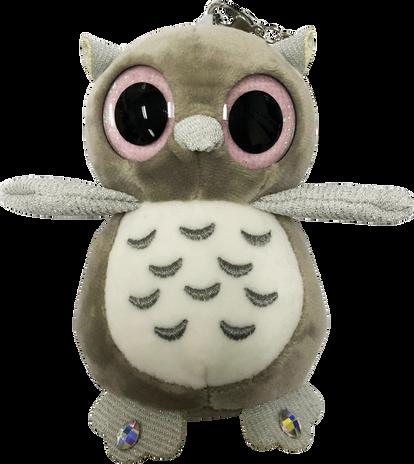 ChloeNoel Cute Animal Key Chain Wallets w/ Crystal Skates - Owl
