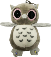 ChloeNoel Cute Animal Key Chain Wallets w/ Crystal Skates - Owl