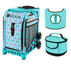 Zuca Sport Bag - Bowz with Gift  Turquoise/Brown Seat Cover and Turquoise Lunchbox (Turquoise Frame)